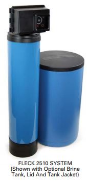 Fleck 2510 Time Based Water Softeners W/ Standard Resin